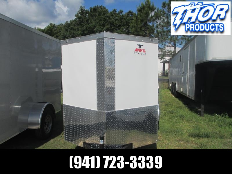 NEW 5 x 10 SA Enclosed Trailer WHITE W/SIDE DOOR AND DOUBLE REAR DOORS W/RADIAL TIRES