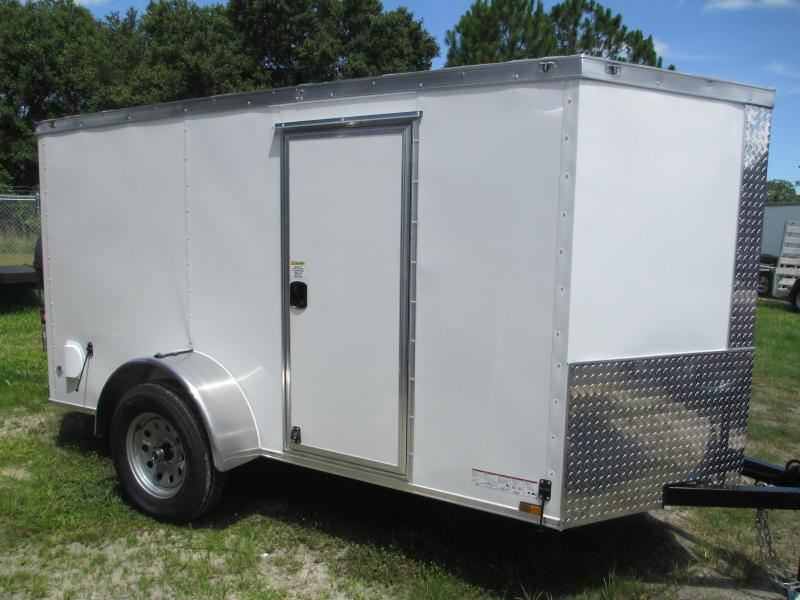 NEW 5x8 SA Enclosed Trailer V-nose side door double rear doors RADIAL Tires