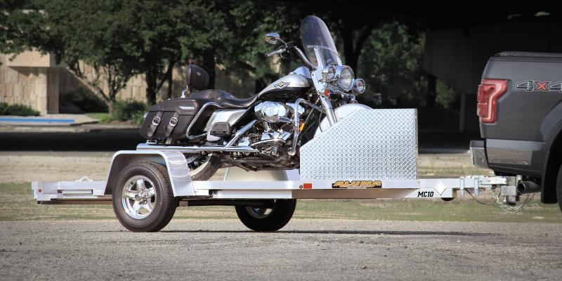 """2018 ALUMA """" 4'3"""" x 10'5"""" MC10 ALUMINUM Motorcycle Trailer"""