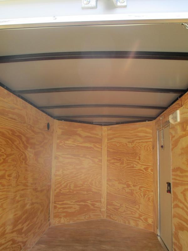 NEW 5x8 V Cargo Trailer White Ramp door