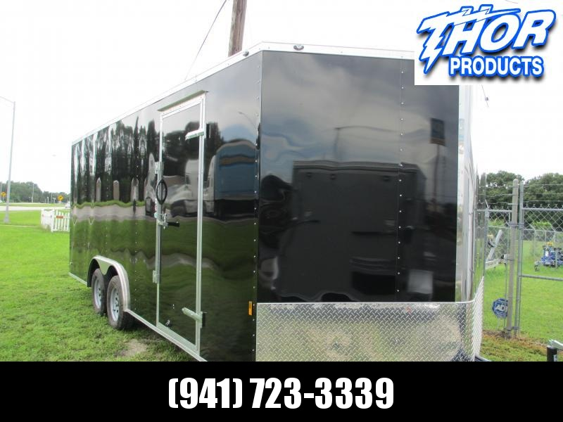 2019 8.5 X 20  Car / Racing Trailer .030 BLACK w/ extended tongue IN STOCK!!