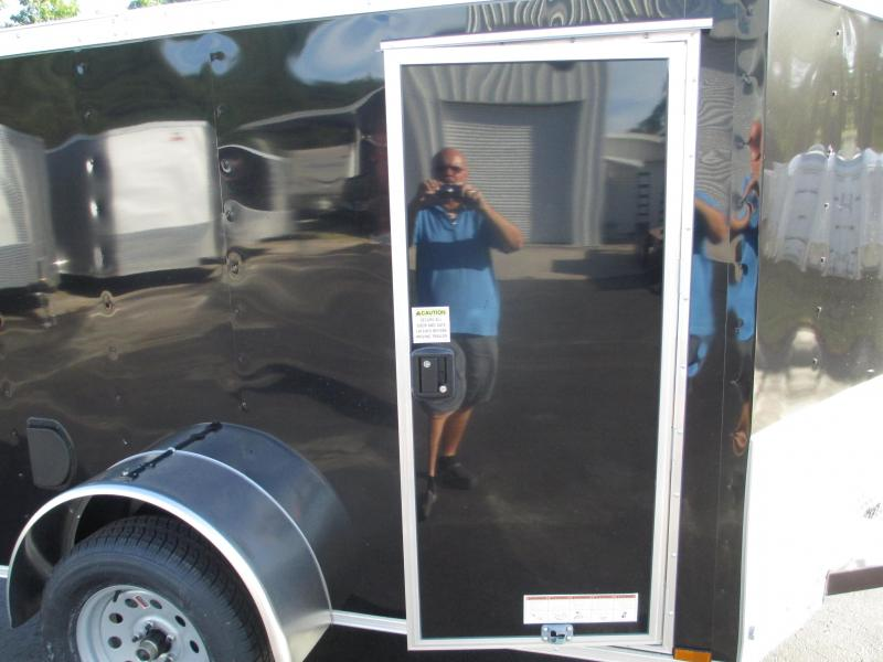 NEW 5 x 8 SA Trailer BLACK Radial Tires Side and rear Ramp Doors