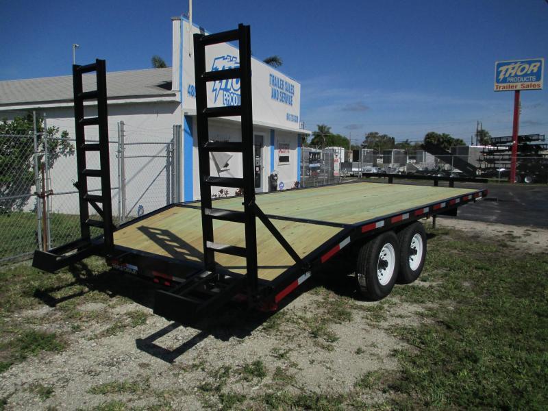 8 x 20 Deckover 14K Equipment Trailer 16' + 4' Dovetail LANDSCAPERS SOD LOADING