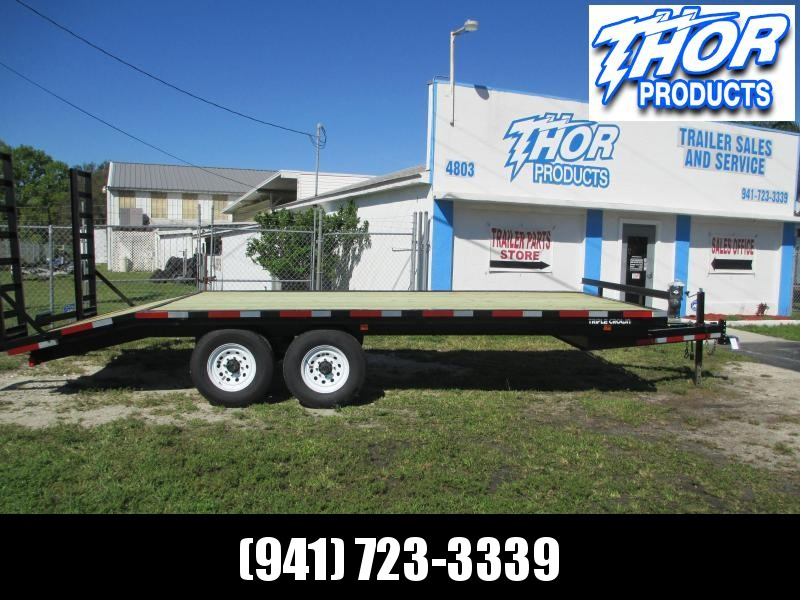 8 x 20 Deckover 14K Equipment Trailer 16' + 4' Dovetail LANDSCAPERS SOD LOADING