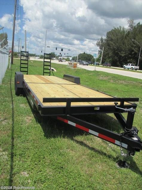 NEW 7 x 24 Equipment Trailer 14K w/Ramps