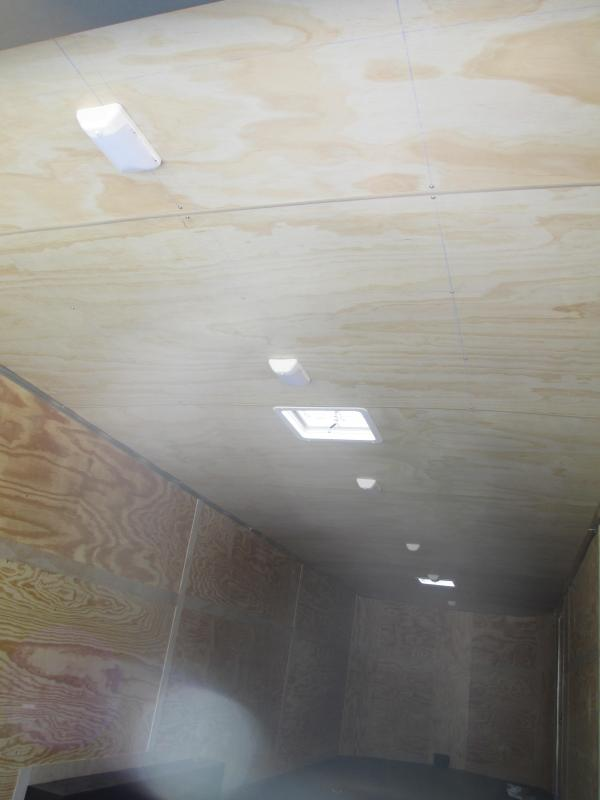 NEW Pace 8.5 X 28 V SILVER FINISHED CEILING PAINTED FLOOR