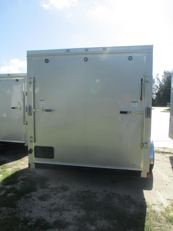 NEW 7X12 SA Enclosed Trailer W/Brakes side and rear ramp doors