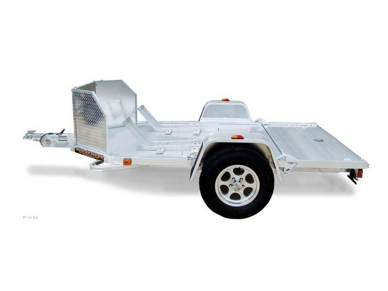 NEW MC2F Folding Aluminum 2 bike motorcycle trailer FOLD UP INTO GARAGE!!