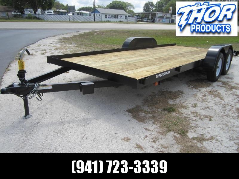 NEW 7X18 7K Race Car Hauler Drag UTV Side ATV Open Utility Cargo Trailer w/Ramps & Removable Fender in Ashburn, VA