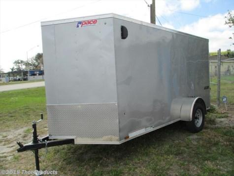 Pace Silver 5 x 10 SA Trailer w/Ramp 1 piece roof radial tires