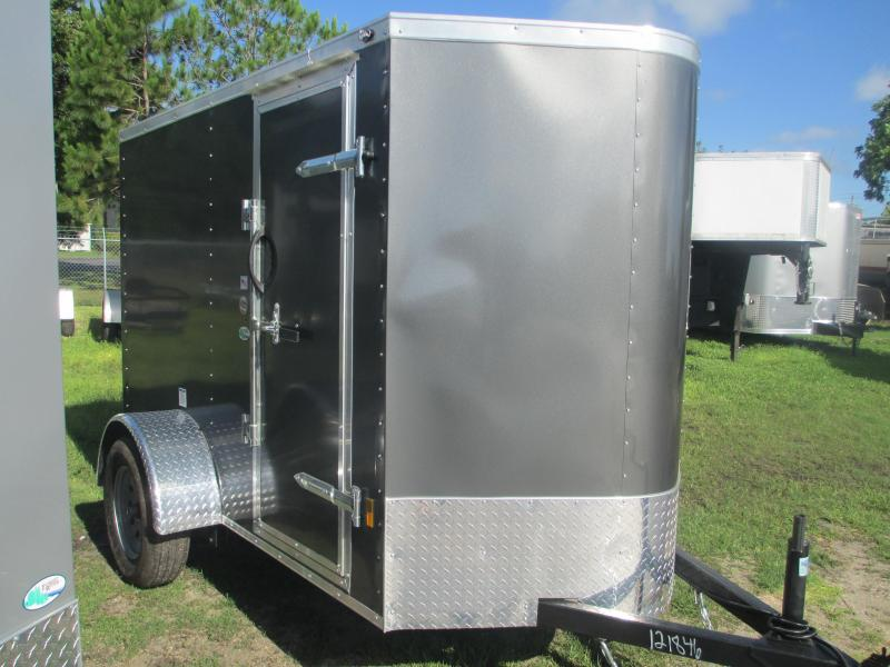 NEW 5X8 V-nose Trailer with Side Door Ramp door .030 CHARCOAL