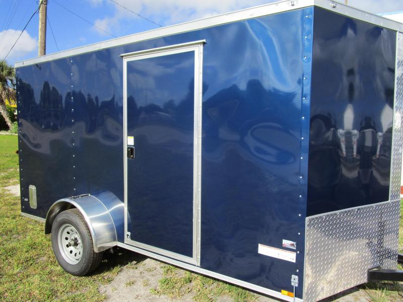 6 x 12 SA Trailer w/Ramp and Side Door INDIGO BLUE!!!