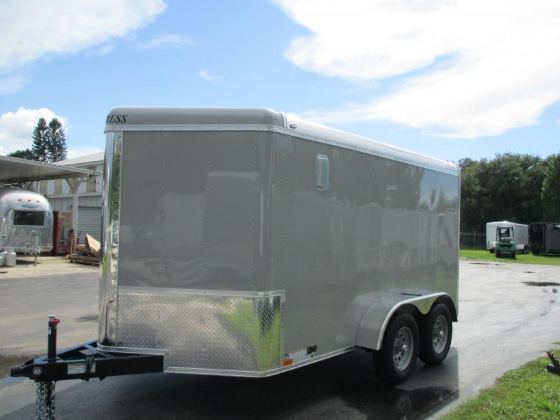 NEW 7x12 TA V-nose w/Motorcycle Package!! Dove Gray TONS OF OPTIONS!!