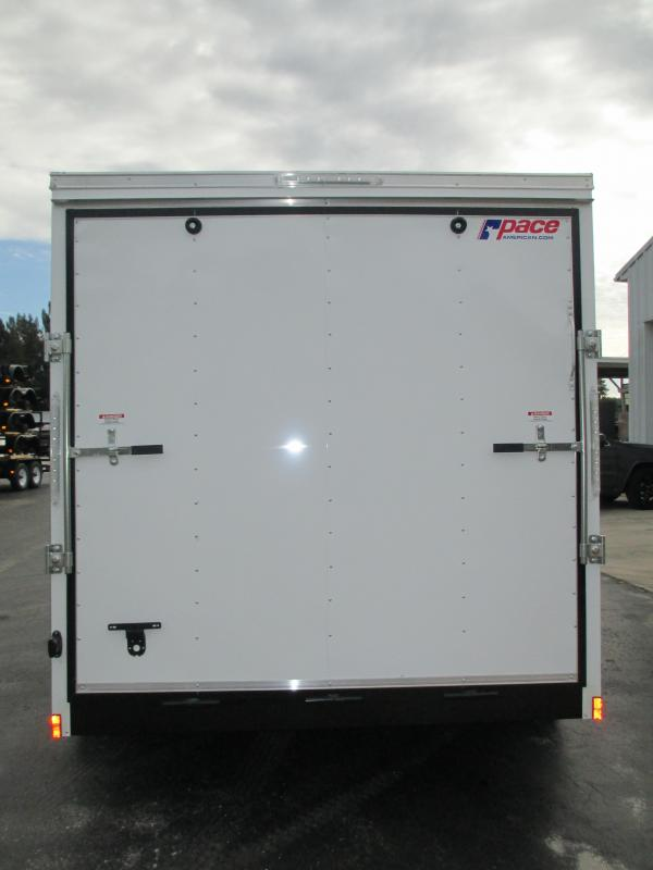 "NEW 7x16 Trailer PACE w/side and ramp doors w/6"" extra height"