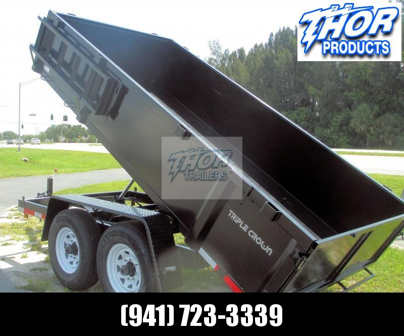 NEW 6X12 H/D Dump Trailer 12K w/Tarp Battery and RAMPS!!