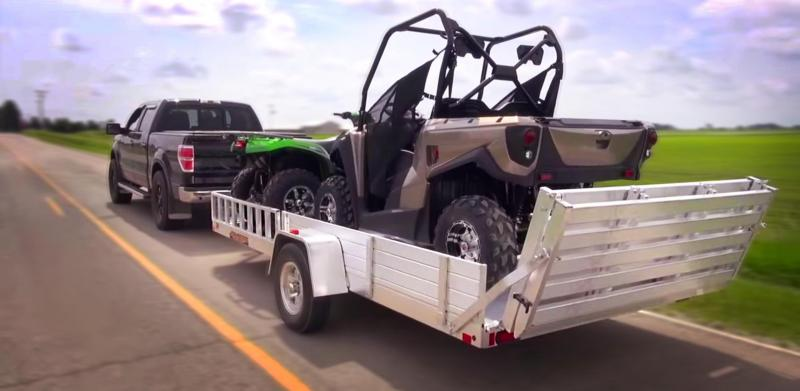 NEW 8114SR ATV Utility Trailer w/side and rear ramps ALUMINUM