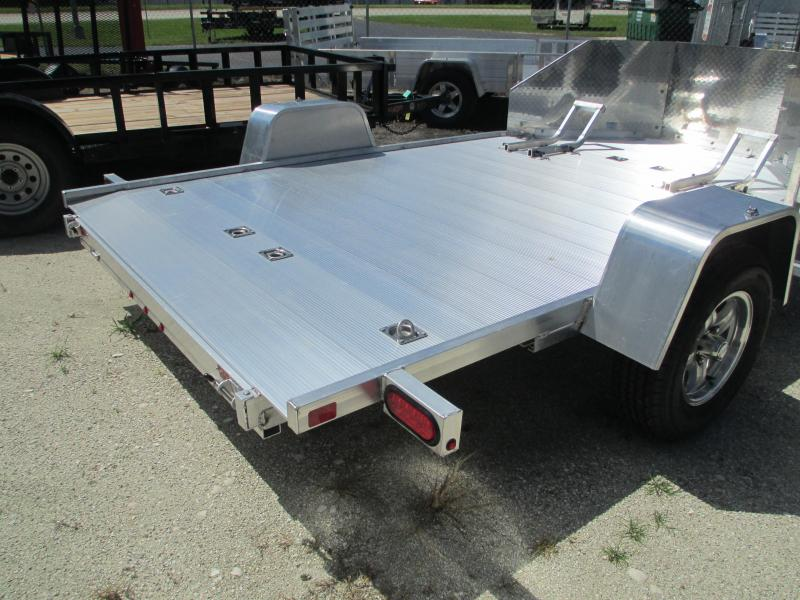 "NEW 6' 6"" x 11' 6""  MC210 Aluma Motorcycle Trailer 2 bike ALUMINUM"