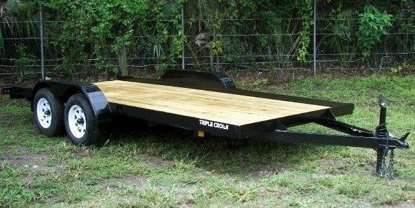 NEW 7X18 7K CAR/EQUIPMENT Trailer w/Ramps & Removable Fender