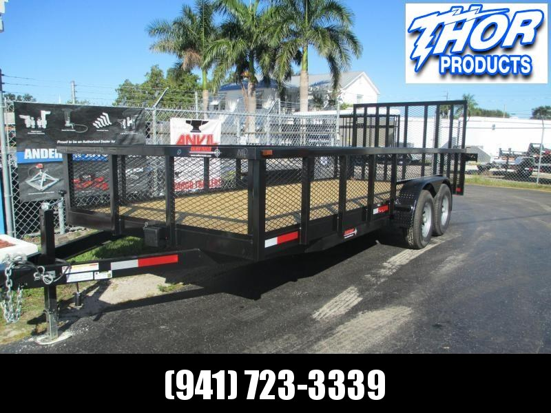 NEW 7X20 10K MAGNUM II Utility Trailer w/2' Mesh sides and Ramp !! HEAVY DUTY!!