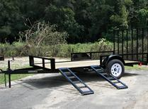 NEW 7x12 SA ATV Trailer w/side and rear ramps
