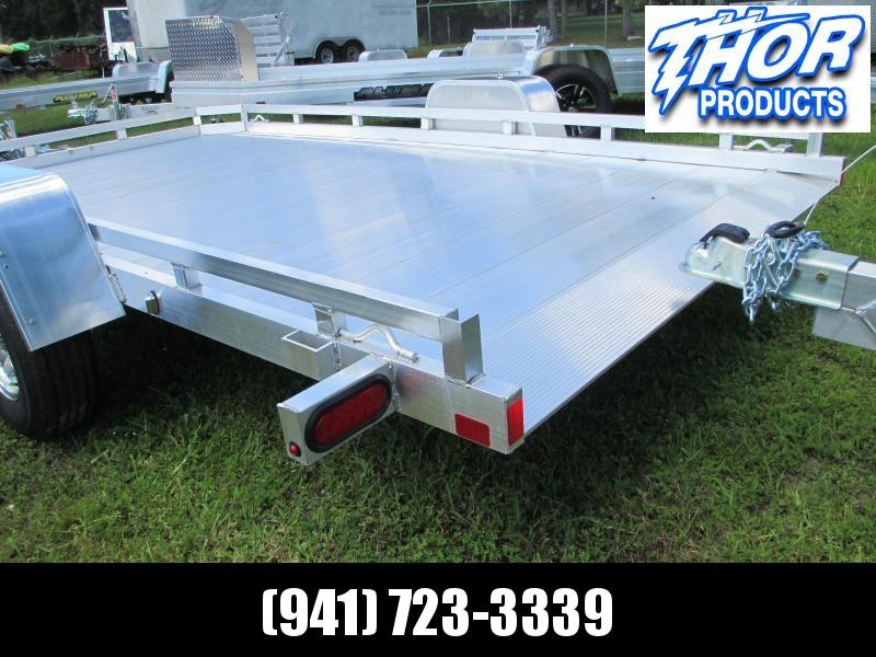 "ALUMA 6'5"" X 12' 1"" SA 7712H TILT Bed Aluminum Trailer"