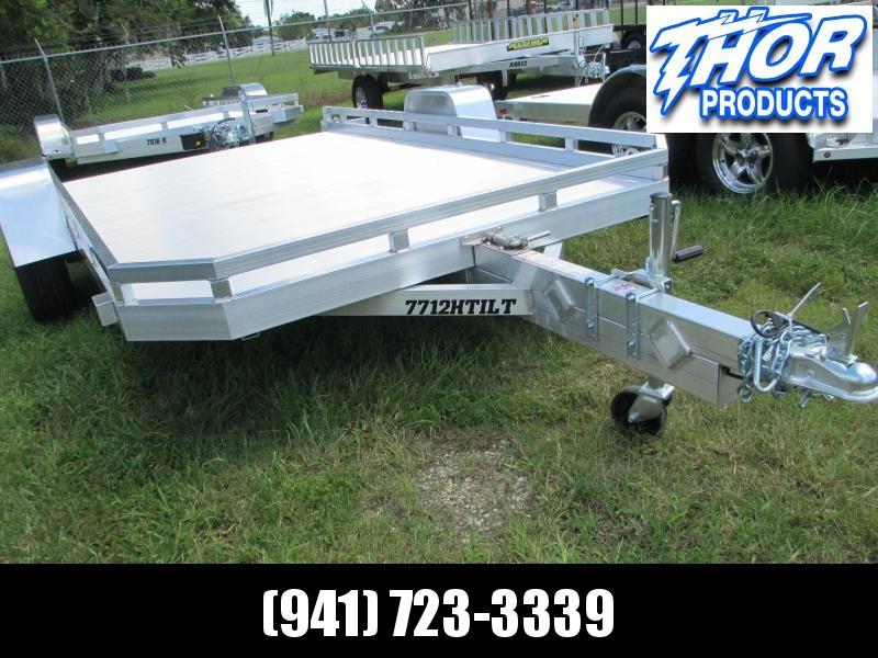 """NEW 6'5"""" x 12'1""""  Aluminum TILT Bed Utility Trailer"""