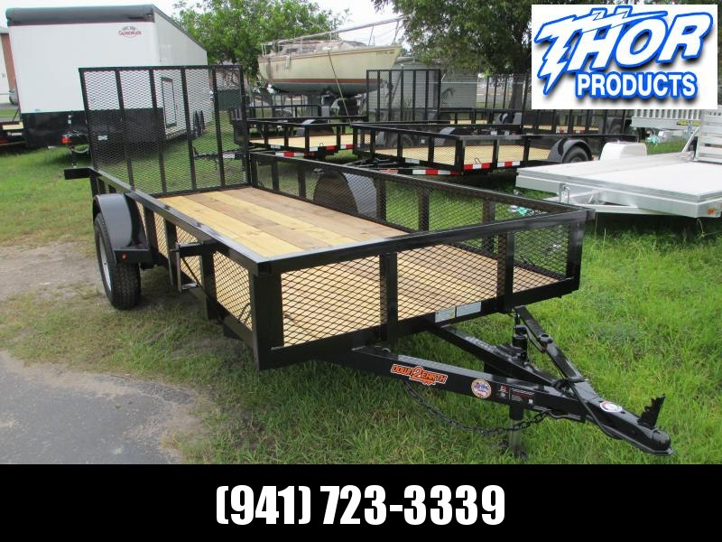 """NEW 5 x 14 SA Utility Trailer W/ 2"""" TUBE TOP AND REAR RAMP plus 14"""" mesh sides!!"""