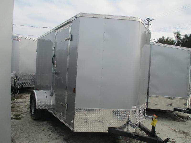 NEW 6X10 .030 Silver TRAILER W/SIDE DOOR  AND REAR RAMP