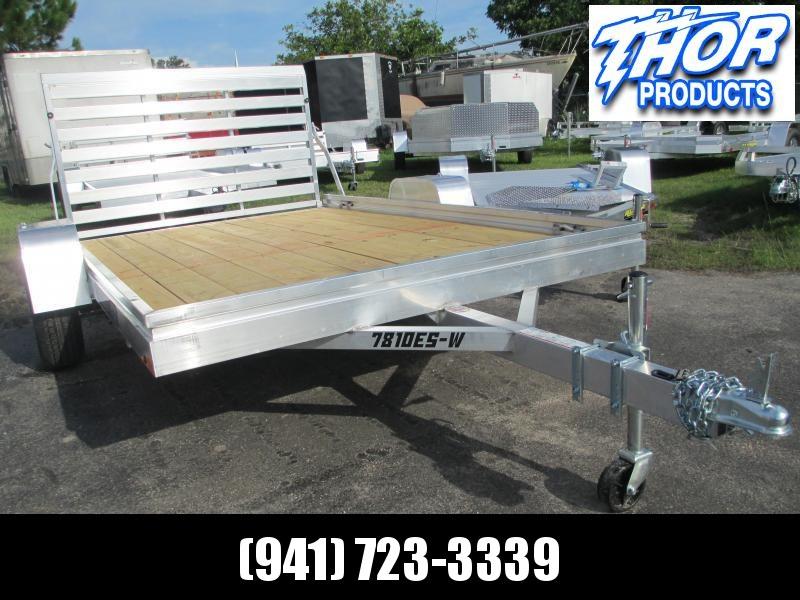 "NEW 78"" x 10' ALUMA Wood Deck Utility Trailer w/aluminum frame"