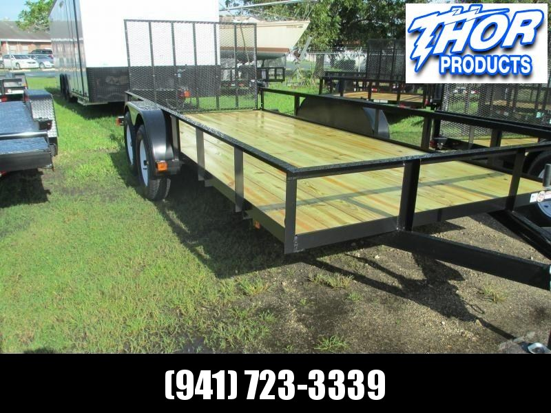 "NEW 6'4"" X 16 TA Utility Trailer w/2 axle brake and Ramp"