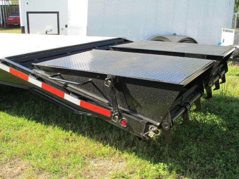 8x30 Deckover 14K Bumper Pull Equipment Trailer 25' + 5' Dovetail w/Monster Ramps