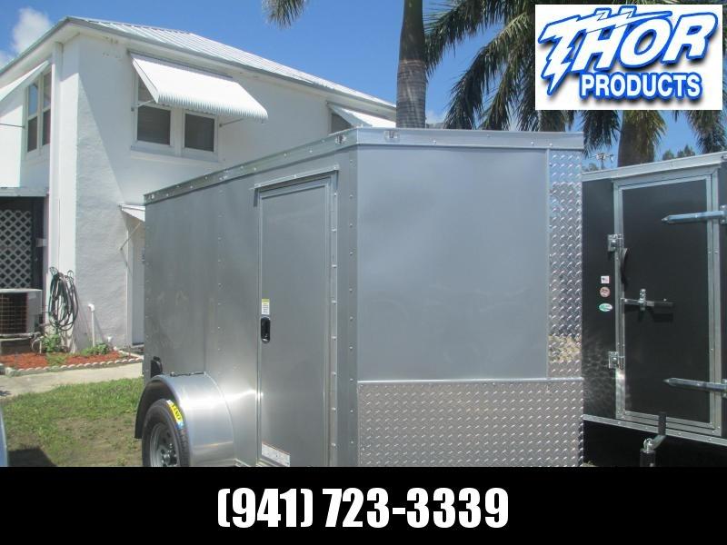 NEW 5x8 SA Enclosed Trailer V-nose side door double rear doors