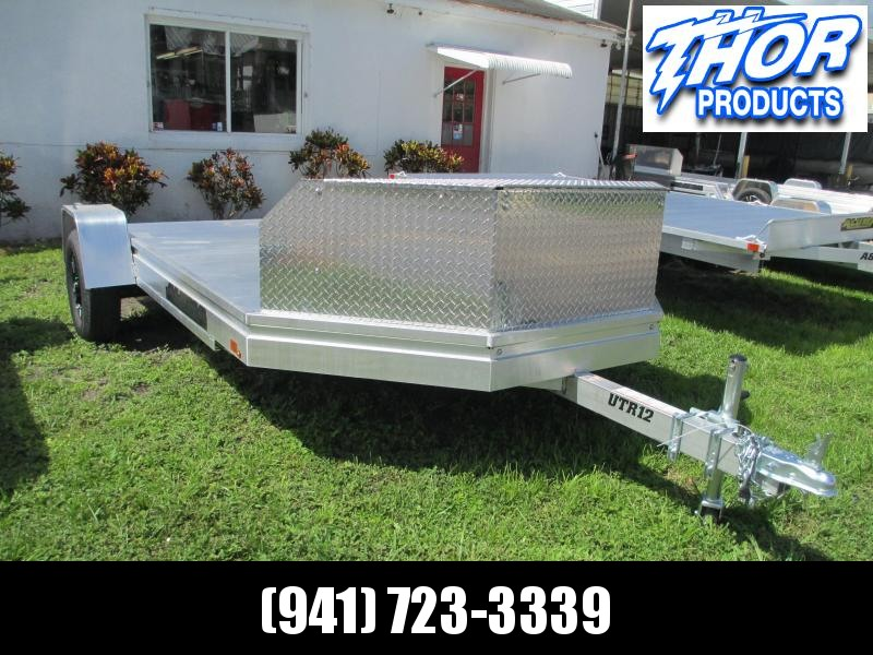 NEW UTR12 UTV/ATV Aluminum Trailer w/pull out ramp ALUMA