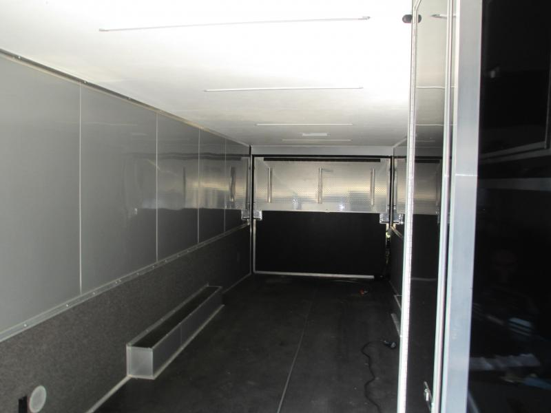 DEALER DEMO!! 8.5 X 30 12K Car / Racing Trailer Flat Front w/Black Out Package and TONS OF EXTRAS!!