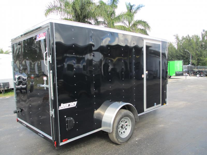 2019 Pace 6X12 Trailer BLACK w/Ramp Radial Tires and 1 piece Aluminum Roof!