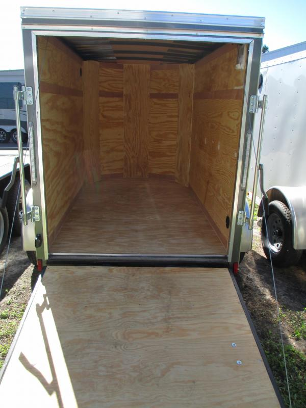 2018 Pace 5X8 SA Enclosed Trailer Charcoal w/Ramp