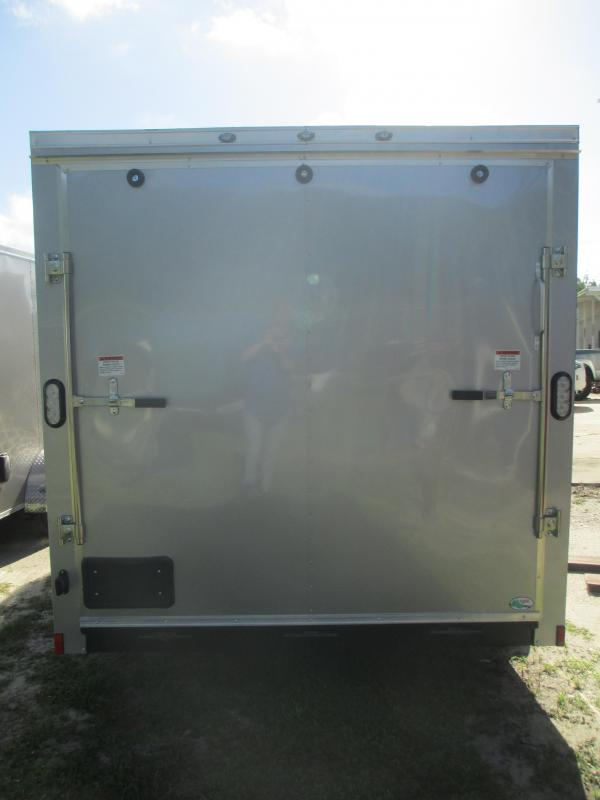 NEW 7X16 TA Trailer V-nose Ramp Roof vent Silver