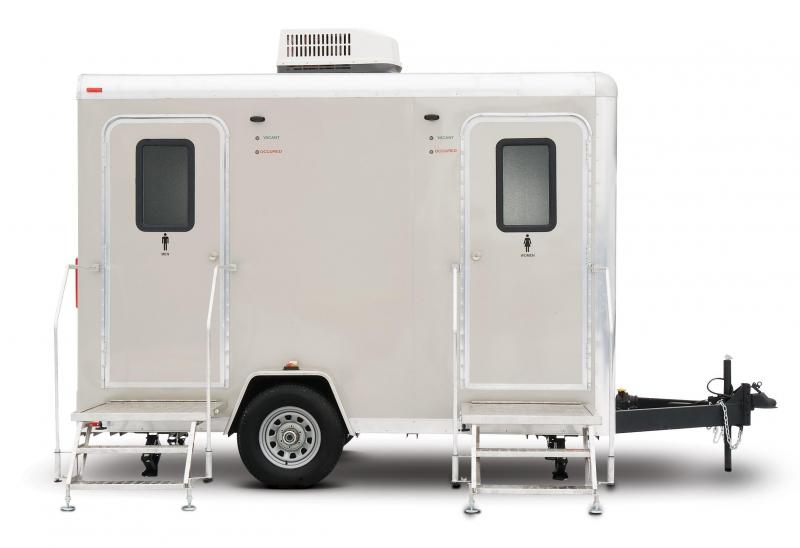 104 LuxuryLav Narrow Body Compact IV Restroom Trailer