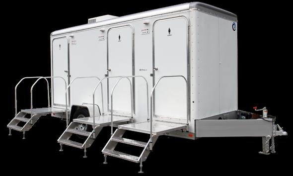 103D  LuxuryLav Narrow Body 3 Stall Shower Deluxe Restroom/Shower Combo Trailer