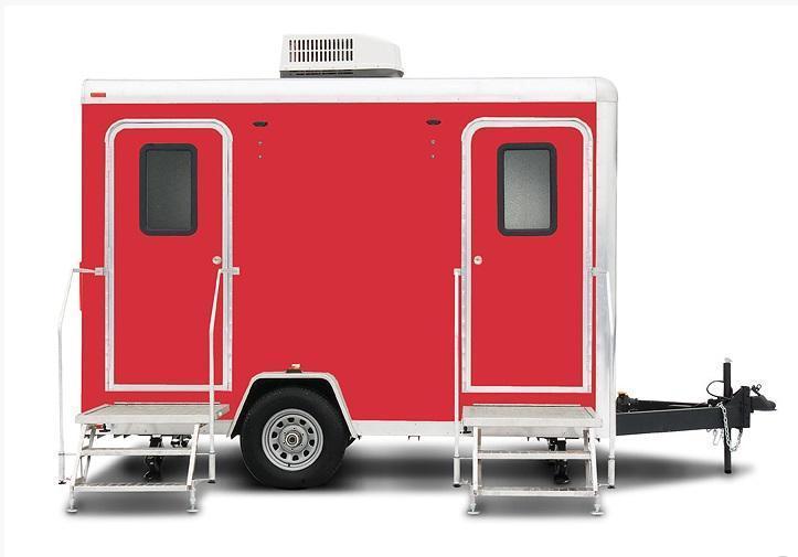 102B LuxuryLav Narrow Body II Stall Combo Restroom / Shower Trailer