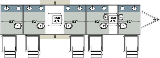 105A LuxuryLav Narrow Body 5 Stall Restroom Trailer