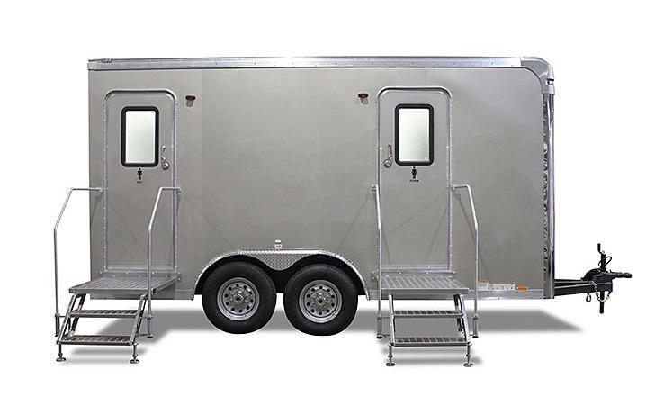 106A LuxuryLav Wide Body Ranier Multi Stall Restroom Trailer