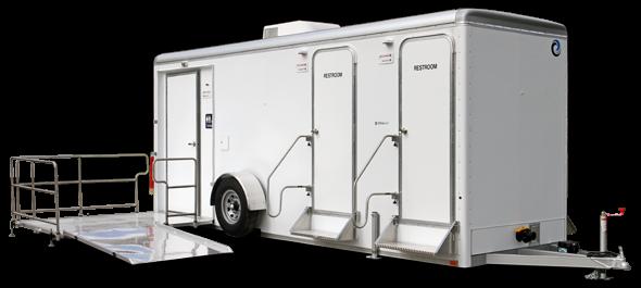 105C LuxuryLav Narrow Body ADA+4-  5-Stall Restroom Trailer
