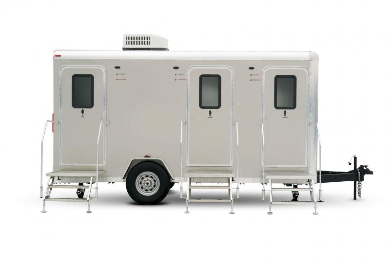 105 LuxuryLav Narrow Body 5 Mini Restroom Trailer