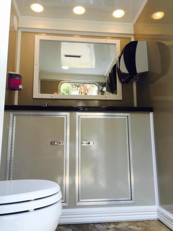102C LuxuryLav Narrow Body 2 Stall Restroom Trailer