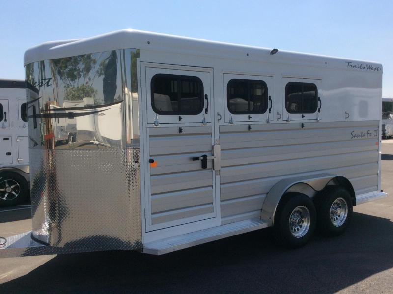 2019 Trails West Manufacturing SANTA FE II Horse Trailer