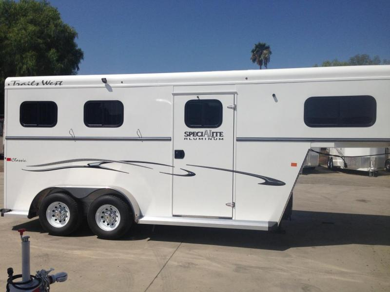 2018 Trails West warmblood (GN)  2 Horse Trailer