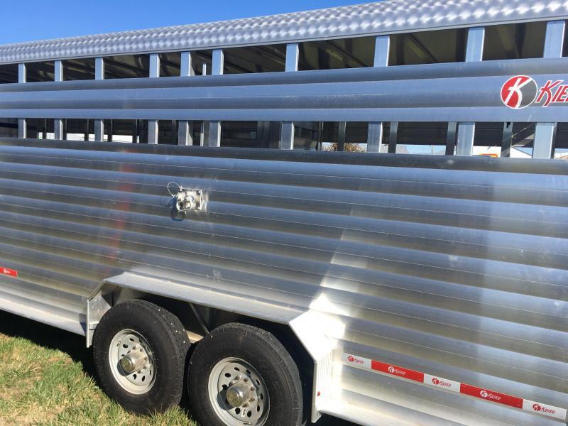 2018 Kiefer Manufacturing Deluxe II Livestock Trailer