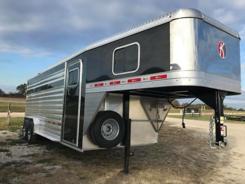 2018 Kiefer Built Stock Combo Livestock Trailer