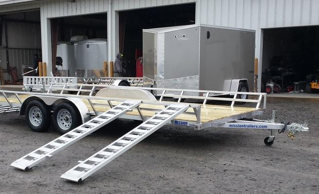 2018 Mission 83x16 3-4 Place ATV Trailer
